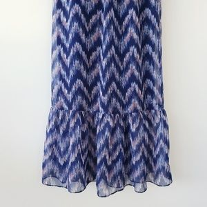 American Eagle Outfitters Dresses - AEO Printed Maxi Corset Bustier Top Dress Navy